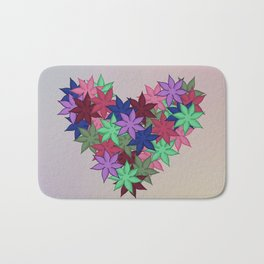 A Heart of Flowers - Breathe Me In - 57 Montgomery Ave Bath Mat