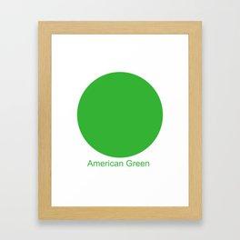 American Green Framed Art Print
