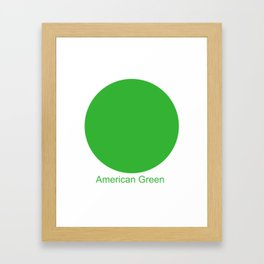 American Green Framed Art Print