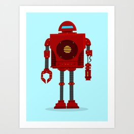 Robo Friend Art Print