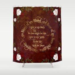 Outlander Wedding Vows Shower Curtain
