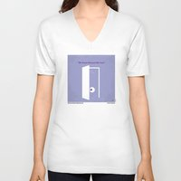 monster inc V-neck T-shirts featuring No161 My Monster Inc minimal movie poster by Chungkong