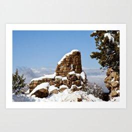 Desert View Watchtower. Grand Canyon. Arizona. USA. Art Print