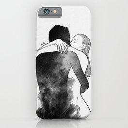 I am the luckiest to have you. iPhone Case