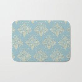 Blue Bees Bath Mat
