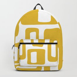Retro Mid Century Modern Abstract Pattern 336 Mustard Yellow Backpack