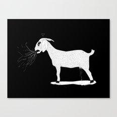 goat milk? Canvas Print