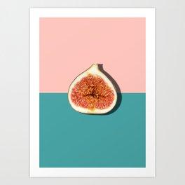 Half Slice Fruit Art Print