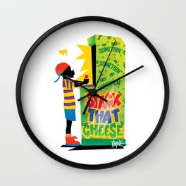 Stack That Cheese Wall Clock