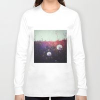 fairies Long Sleeve T-shirts featuring home of summer fairies  by Julia Kovtunyak