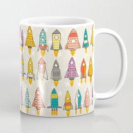 retro rockets eggshell Coffee Mug