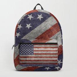 USA flag, retro style Backpack