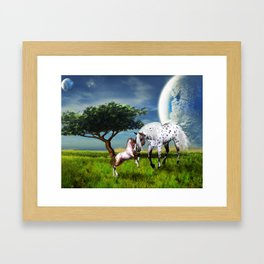 Horses Love Forever Framed Art Print
