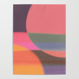 Mid-century modern abstract composition Poster