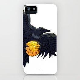Crow Grabbing Sphere iPhone Case