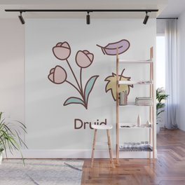 Cute Dungeons and Dragons Druid class Wall Mural