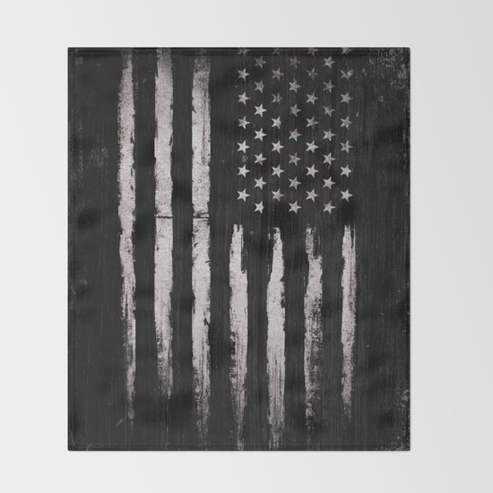 White Grunge American flag by mydream