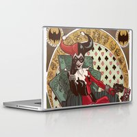 harley quinn Laptop & iPad Skins featuring Harley Quinn by LaurenceBaldetti
