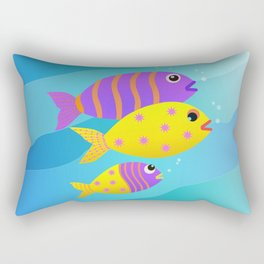 Fish Family Rectangular Pillow