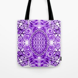 Purple Zentangle Tile Doodle Design Tote Bag