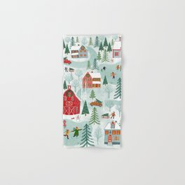 New England Christmas Hand & Bath Towel