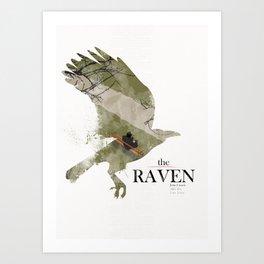 The Raven (2012) minimal poster Art Print