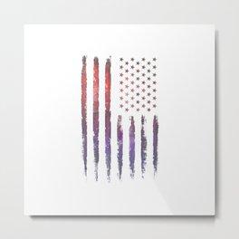 Colorful American flag Metal Print