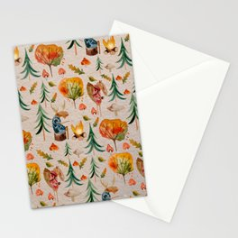 Norway Love. Moose in autumn forest  Stationery Cards