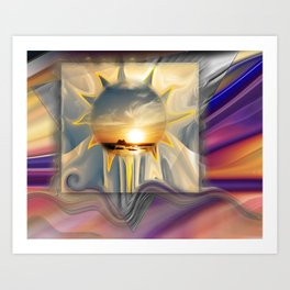 Sunset Carnival Art Print