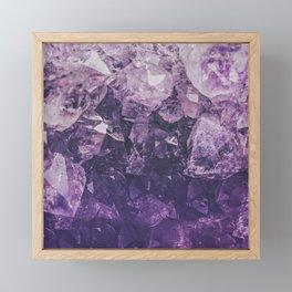 Amethyst Gem Dreams Framed Mini Art Print
