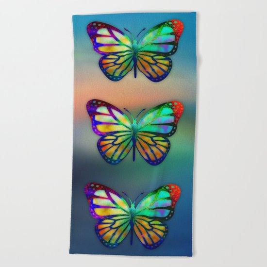 Vivid Butterfly Beach Towel