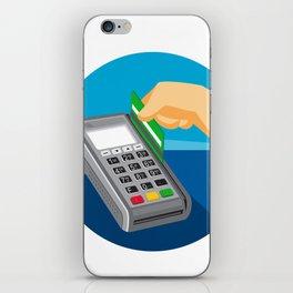 Hand Swiping Credit Card on POS Terminal Retro iPhone Skin