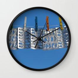 Blister packs concept Wall Clock