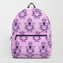Damask Pink Purple Pattern Backpack