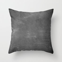 Gray and White School Chalk Board Throw Pillow