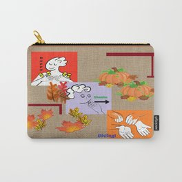 American Sign Language ASL Happy Thanksgiving Carry-All Pouch