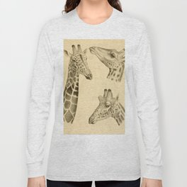 Vintage Illustration of a Giraffe (1908) Long Sleeve T-shirt