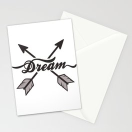 dream arrows Stationery Cards