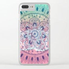 Summer beach bohemian mandala Clear iPhone Case