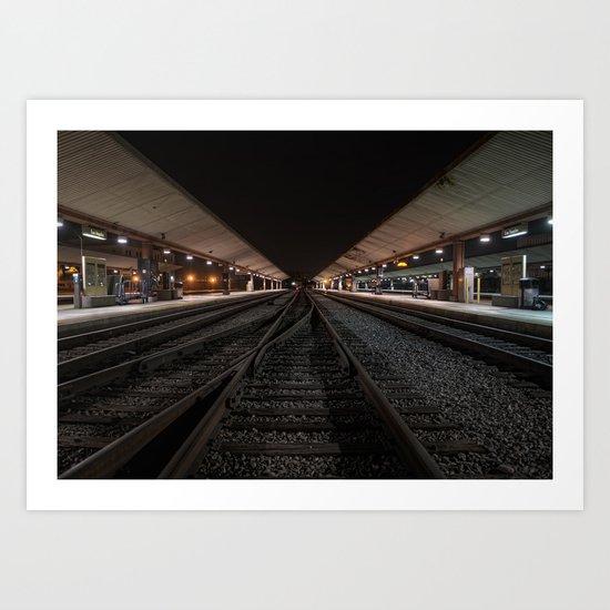 Union Station Tracks Art Print
