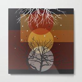 Sunset Falls Metal Print
