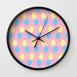 Party Balloons Wall Clock