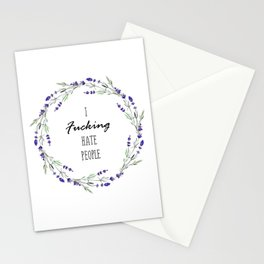 I hate people Ornament Stationery Cards