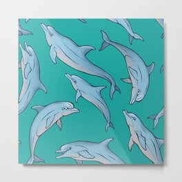 Dolphin family Metal Print