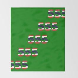 555  Thai flag Throw Blanket
