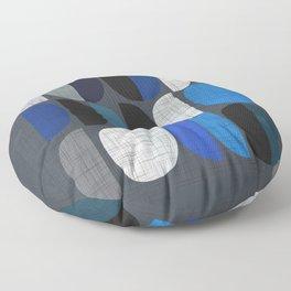 Mo Moons Blue Floor Pillow