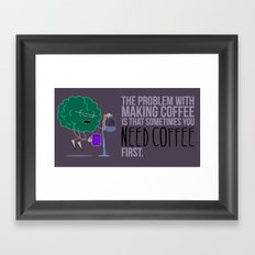 Personal Coffee Cup Framed Art Print