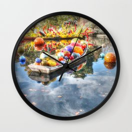 Floating Glass Wall Clock