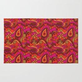 70's Paisley Print Rug
