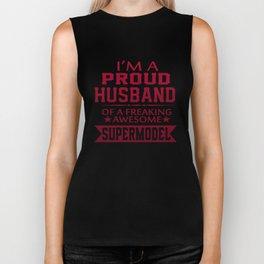 I'M A PROUD SUPERMODEL'S HUSBAND Biker Tank